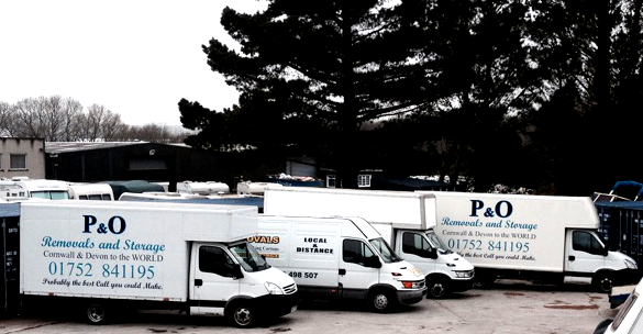 P&O Removals fleet.